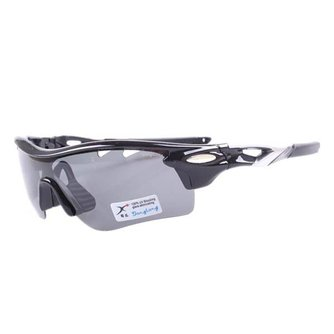 Zwarte Fietsbril Met Drie Verwisselbare Glazen
