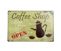 Metalen Bordjes Koffie