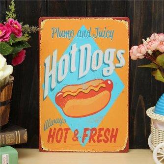 Ophangbord met Tekst over Hotdog