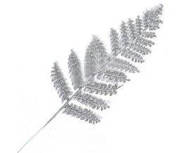 Kerstversiering Zilveren Blad 40cm