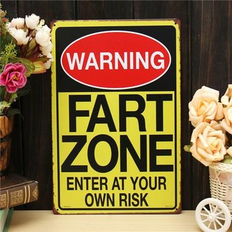 Metalen Fart Zone Bord