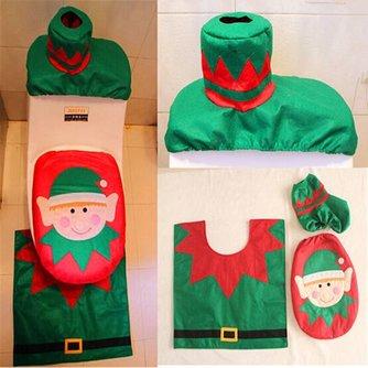 Toilet Versiering Kerst
