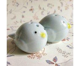 Peper en Zoutstel met Vogel Design
