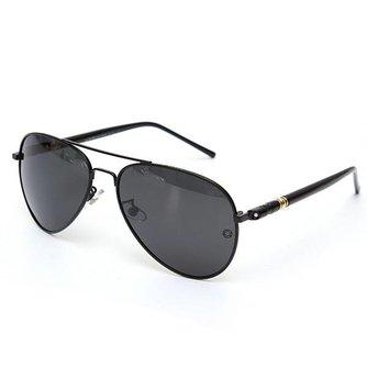 Zwarte Polaroid Zonnebril Voor Heren