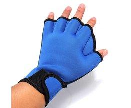 Zwemhandschoenen In het Zwart En Blauw