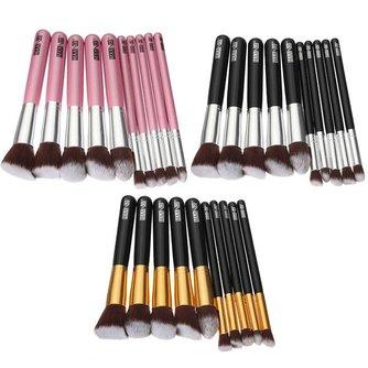 Gekleurde Make-Up Kwasten 10 Stuks