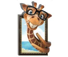 Sticker 3D Giraffe
