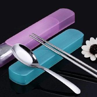Lepel En Chopsticks Van Roestvrij Staal