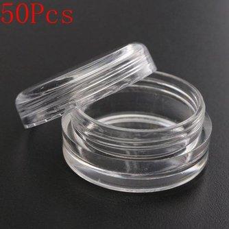 Plastic Bakjes met Dop 5 Stuks