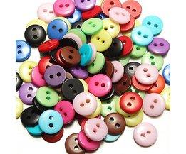 Gekleurde Knopen van Hars 100 stuks
