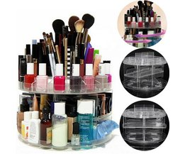Cosmetica Organizer Transparant 360 Graden Draaibaar