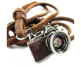 Retro Leren Hanger met Camera voor de Man