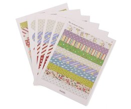 6 Vellen Scrapbook Stickers