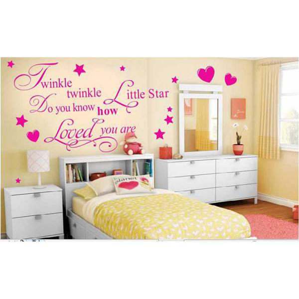 muurstickers slaapkamer met tekst