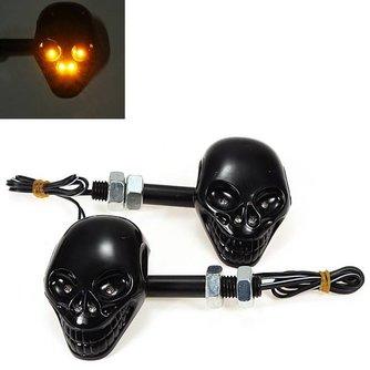 Motor LED Richtingaanwijzers met Schedel Design (2 stuks)