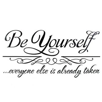 Muursticker Quote Be Yourself