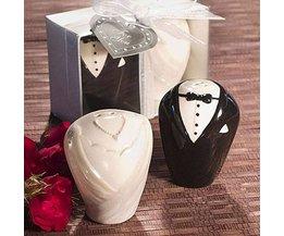 Peper En Zout Stelletje Als Bruid en Bruidegom
