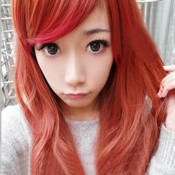 douche massage rood haar