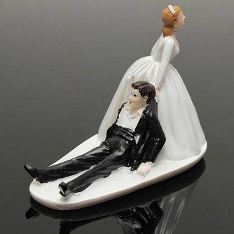 Grappige Bruiloft Taarttopper