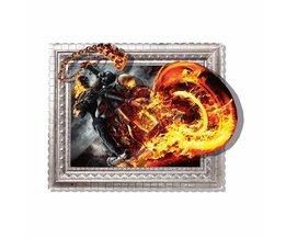 PAG Sticker 3D Motor Met Vuur