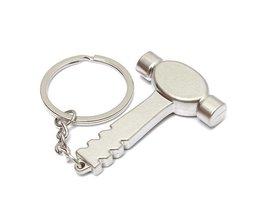 Zilveren Sleutelhanger Met Hamertje