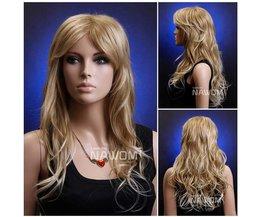 NAWOMI Lange Pruik Met Golvend Blond Haar