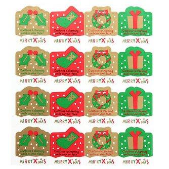 Kerststicker 14 Vellen