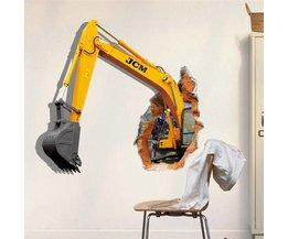 Muursticker 3D Graafmachine