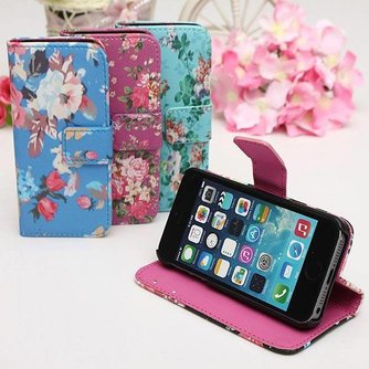Flipcase Bloemen Voor iPhone 5 & 5S