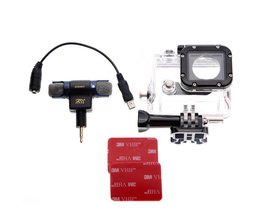 Microfoon Met Hoes Voor GoPro Hero 3, 3+ & 4