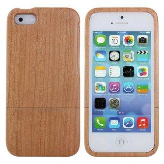 Hoesje Van Natuurlijk Hout Voor iPhone 5 & 5S