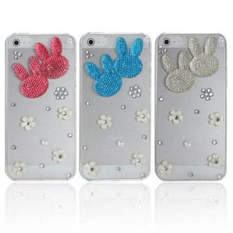 Diamond Bunny Hoes Voor iPhone 5 & 5S