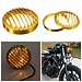 Koplamp Kap (Grille) Goudkleurig voor Harley Davidson
