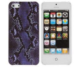 Case Cover voor iPhone 5 met Slangenprent