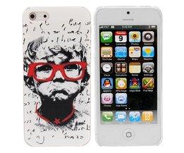 Cover voor iPhone 5 met Bril Design