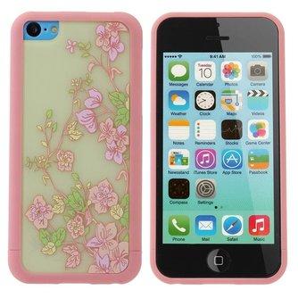 Cover voor iPhone 5C met Bloemen Design