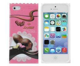 Covers voor iPhone 5 & 5S met Chocoladewikkel Design