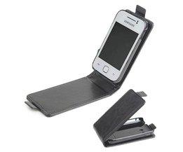 Leren Beschermhoes voor de Samsung Galaxy S5360 I509 Y