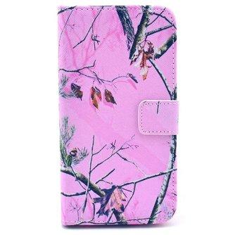 Roze Beschermhoesje van TPU Leer voor de Samsung S5 i9600