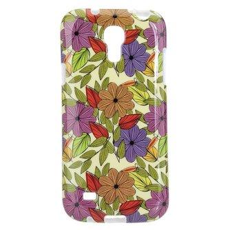Hoes Voor Samsung S4 Met Bloemenpatroon