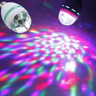E27 RGB Spot Met Disco Effect