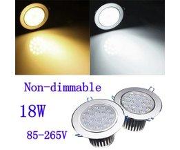 Inbouw LED Plafondlamp 18W 85-265V + Driver