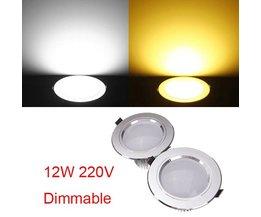 Plafondverlichting Dimbaar 12W LED