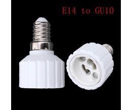 E14 naar GU10 Lamp Fitting Adapter