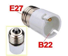 B22 Naar E27 Fitting Converter