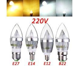LED Lamp Voor een Kroonluchter Met Warm of Koud Wit Licht