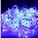 LED Lichtnet In Blauw