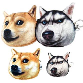 Hond Kop Tas Portemonnee