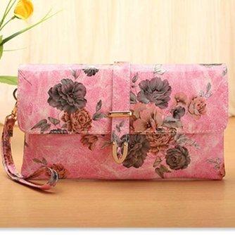 Roze Handtassen Bloemen Vintage