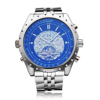 JARAGAR Mechanisch Horloge van Roestvrij Staal voor Heren